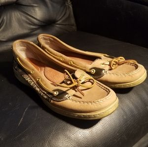 Exc Sperry Sparkle Leopard Topsiders